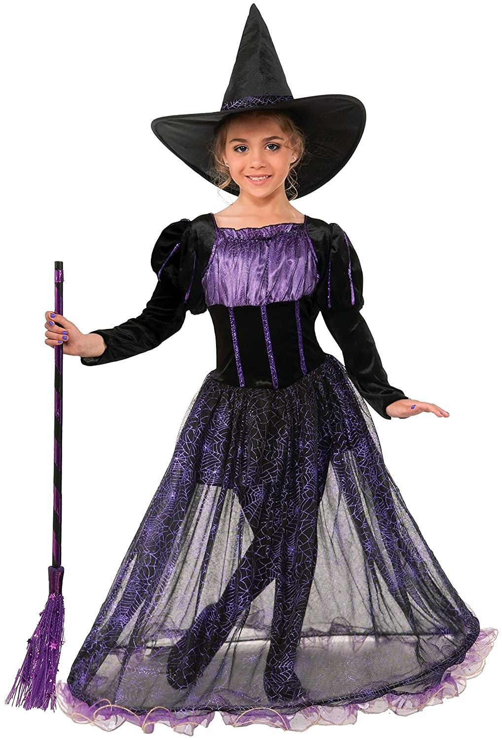 amazoncom forum novelties purple potion witch costume small toys games - Spider Witch Halloween Costume