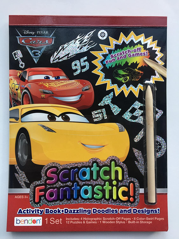 Amazon.com: Disney PIXAR Cars Scratch Fantastic Activity Book: Toys & Games