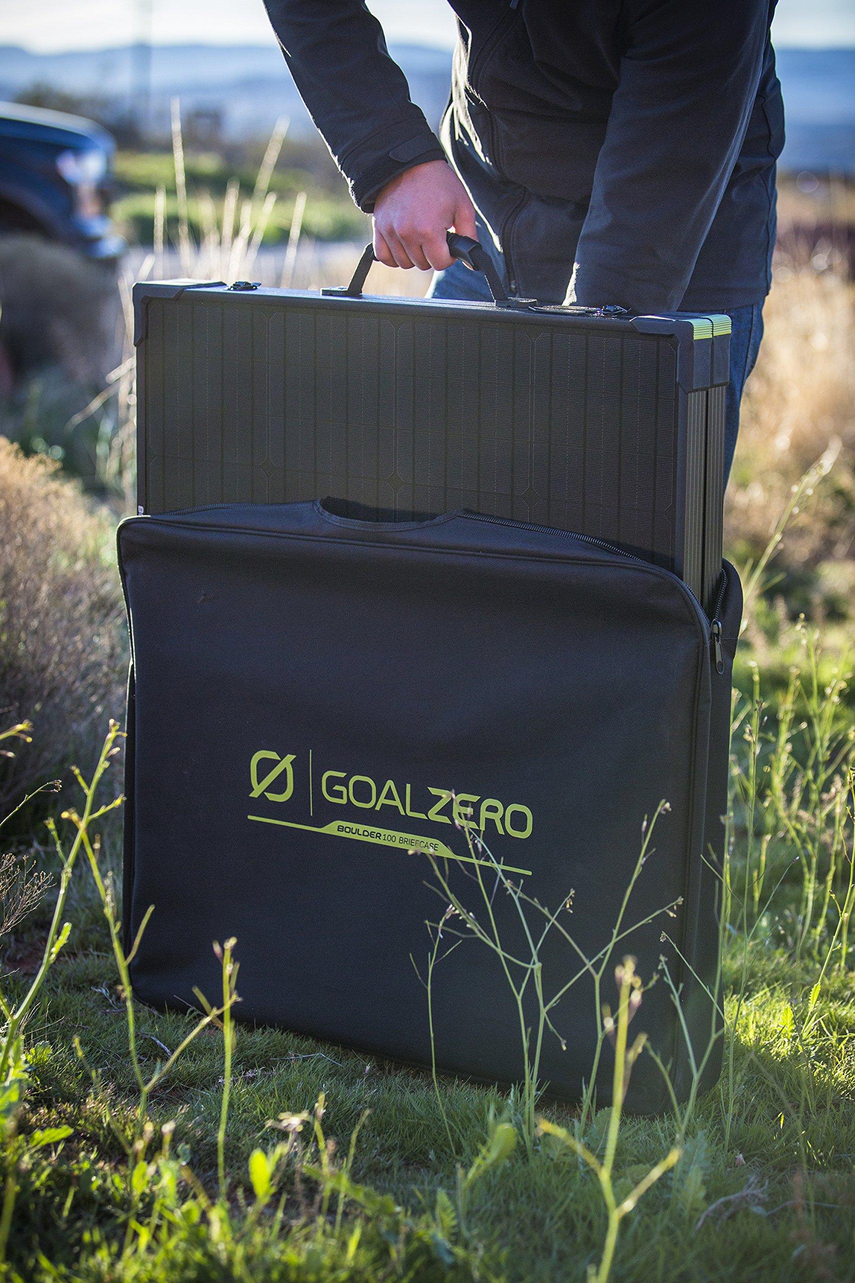 Goal Zero Yeti 1250 Solar Generator Kit with Boulder 100 Briefcase Solar Panel