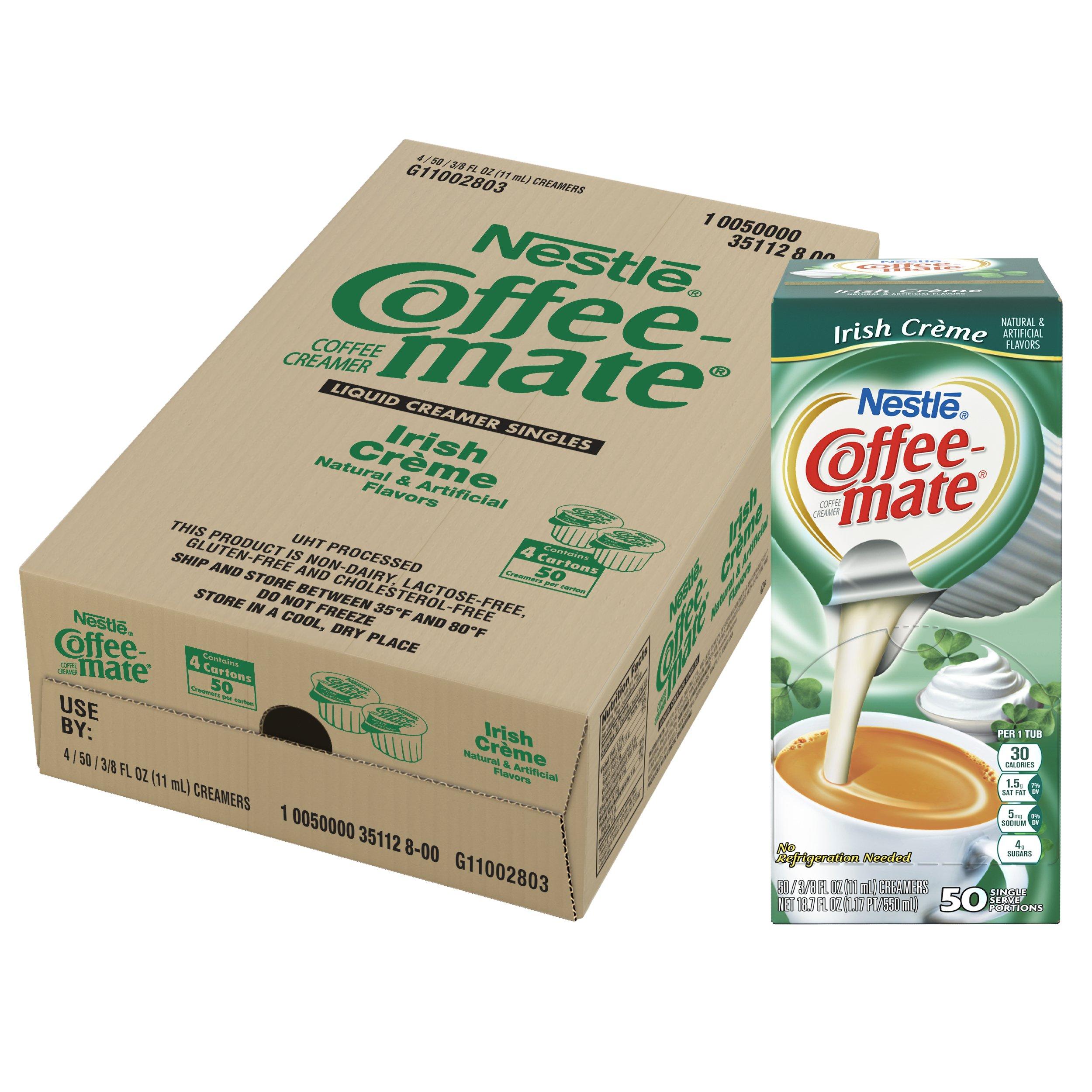 NESTLE COFFEE-MATE Coffee Creamer, Irish Creme, liquid creamer singles, 50 Count (Pack of 4) by Nestle Coffee Mate (Image #6)