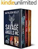 Savage Angels MC Collection Books 1 - 3 : Motorcycle Club Romance