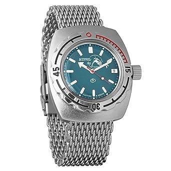 Vostok Amphibian 090059 - Reloj de pulsera automático para hombre, de cuerda automática, con estuche: Amazon.es: Relojes