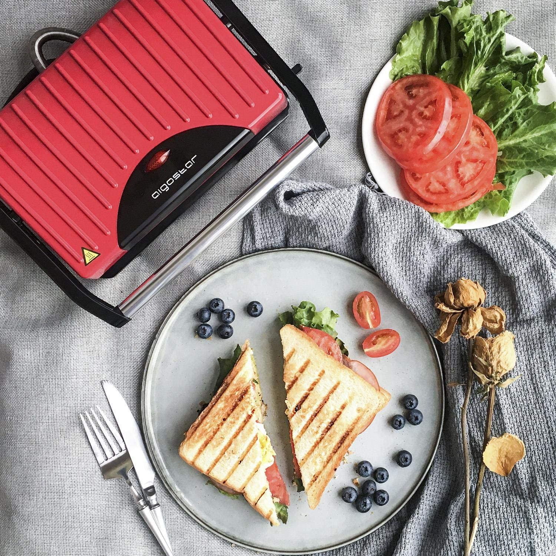 Aigostar Warme 30HHH – Grill, parrilla, sandwichera y máquina de ...