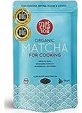 Matcha Pulver 108 – Bio Premium Qualität (für kräftiges Tee-Aroma zum Mixen) - ideal für Smoothies, Lattes, zum Kochen & Backen – zertifiziertes Grüntee Pulver [108g Culinary Grade Green Tea]