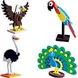 Imagimake Worldwide:Birds Educational Toy and Construction Set, Multi Color