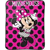 """Disney Minnie Mouse Dots Are The New Black Plush Throw, 46"""" x 60"""""""