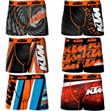 KTM 6 pcs boxer briefs - 92% poly/8% elastan - multicolor