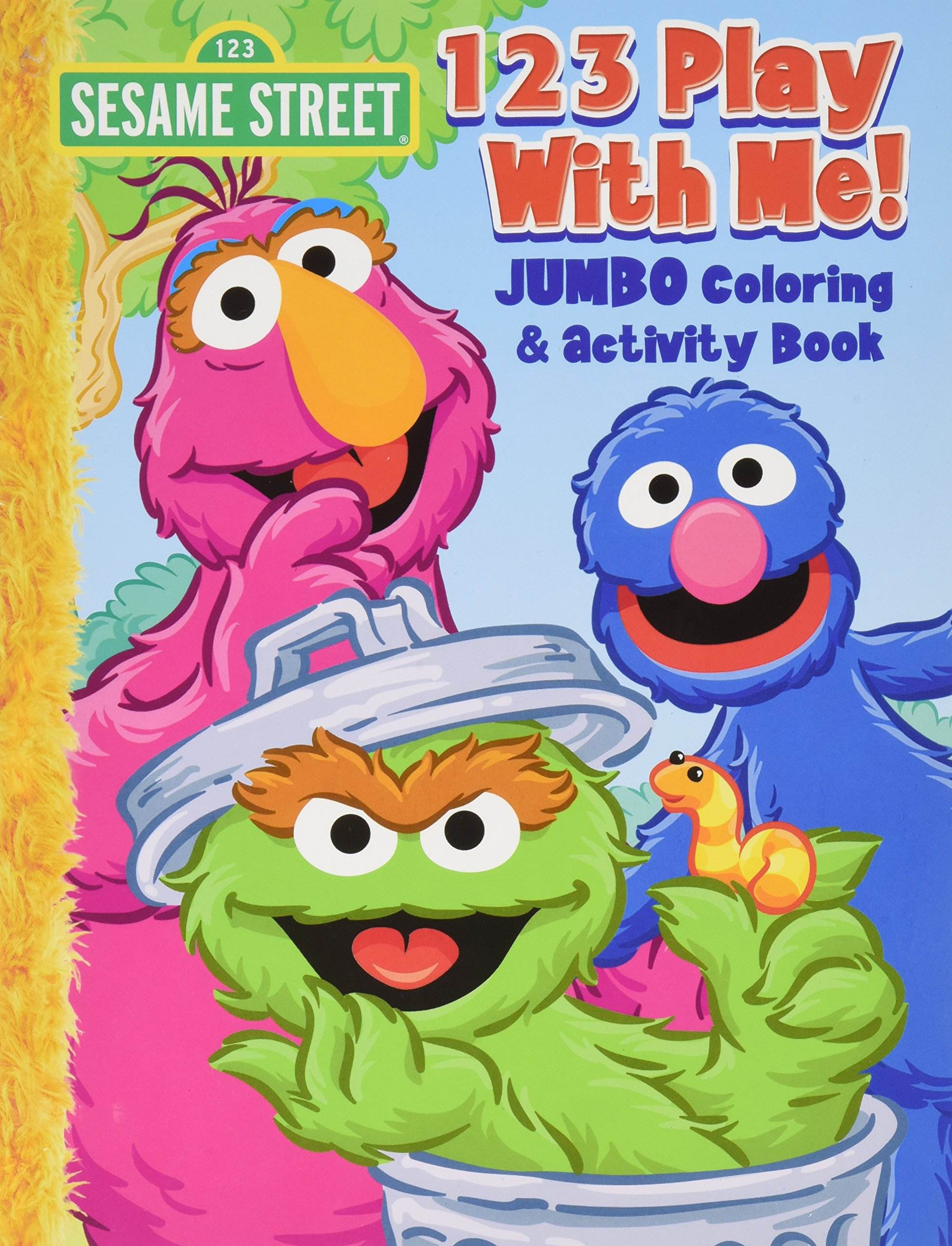 Sesame Street 123 Play with me Jumbo Coloring and Activity Book pdf