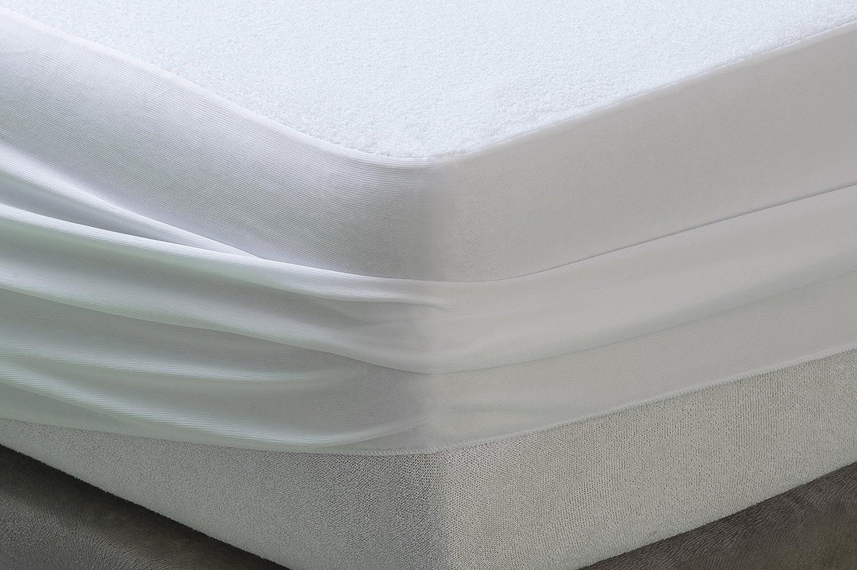 Prot/ège-Matelas Imperm/éable et Respirante 140x190//200cm Savel /Éponge Bouclette 100/% Coton