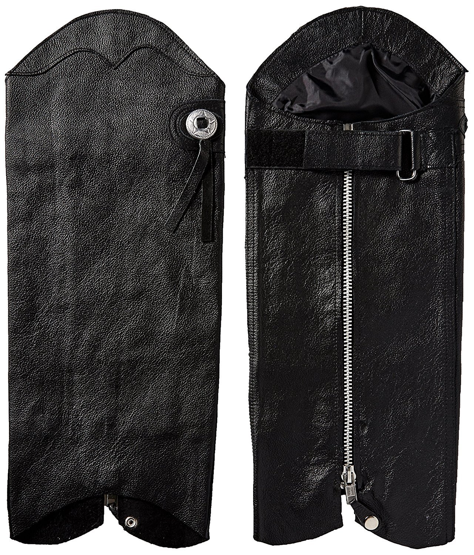 First Manufacturing Unisex Half Chaps (Black, Medium/Large)