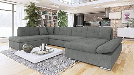 Surprising Honeypot Furniture Sofa Bergen Corner Sofabed Storage Faux Leather Fabric All Grey Left Hand Corner Beutiful Home Inspiration Xortanetmahrainfo