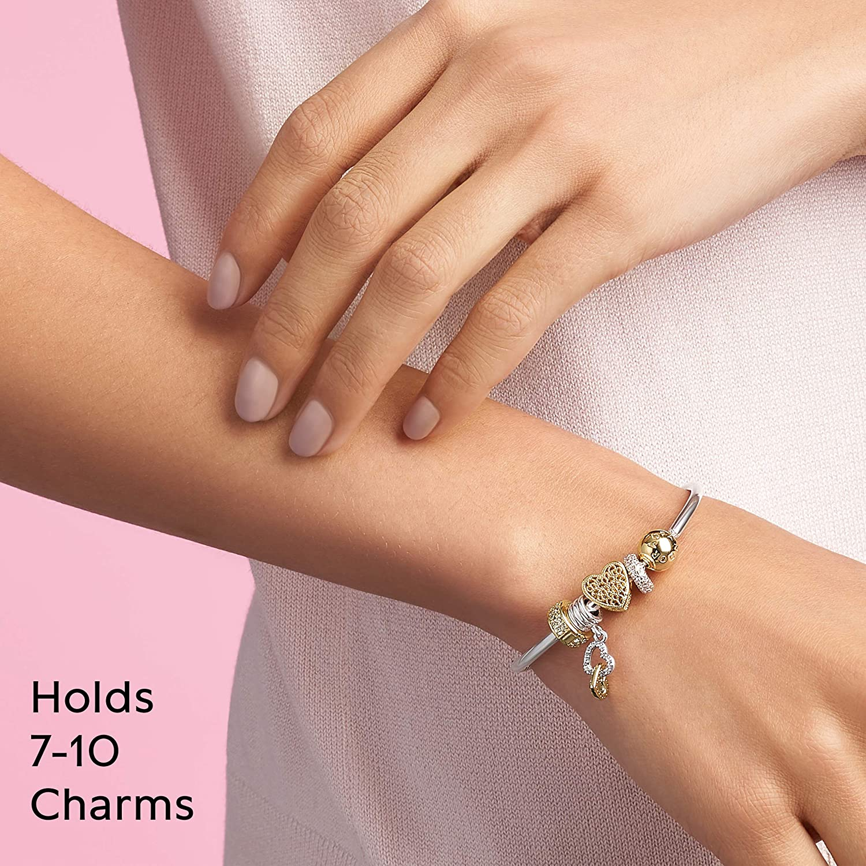 PANDORA Moments Three-Link Bangle Bracelet