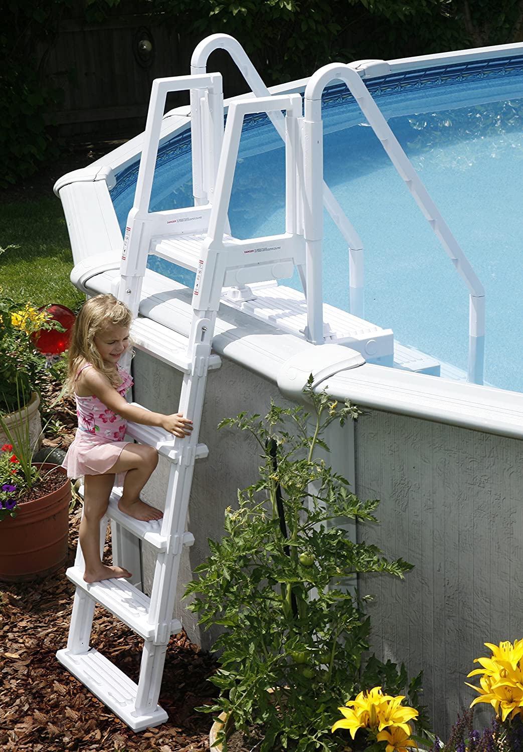 Easy Pool Step with Outside Ladder