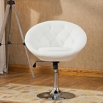 Amazon.com: Duhome Retro Vanity Lounge Chair Swivel PU Leather Seat ...