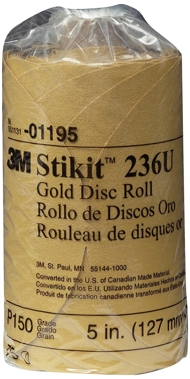 3M 01195 Stikit Gold 5 P150A Grit Disc Roll
