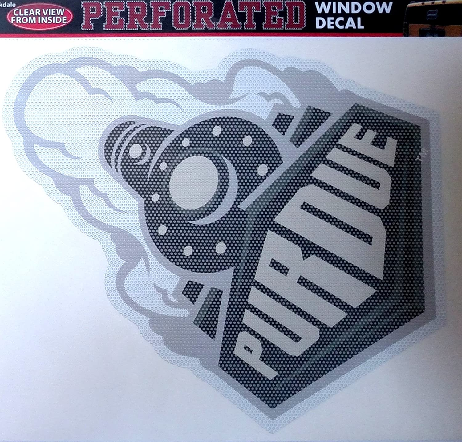 Purdue Boilermakers Large 12' Perforated Auto Window Film Glass Decal University of Stockdale