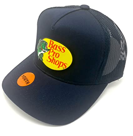 b18aa8cf Amazon.com: BestsBrands, Authentic Bass Pro Shops Logo Mesh Cap for Kids  and Youth Adjustable. Size Kids / Youth (Navy): Sports & Outdoors