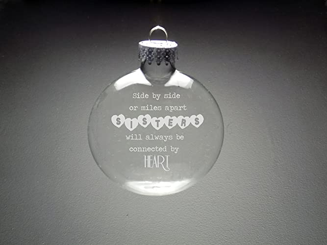 Sisters Christmas Ornament - Sitster Holiday Ornament - Glass Ornaments -  Sisters Gift - Amazon.com: Sisters Christmas Ornament - Sitster Holiday Ornament