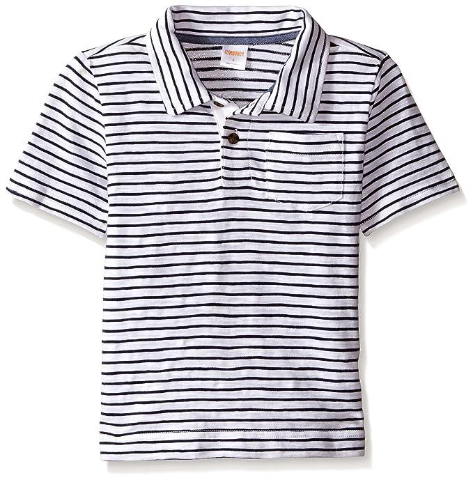 6ea646d35 Amazon.com: Gymboree Boys' Big Micro-Striped Short Sleeve Polo Shirt, Dark  Marine 4: Clothing