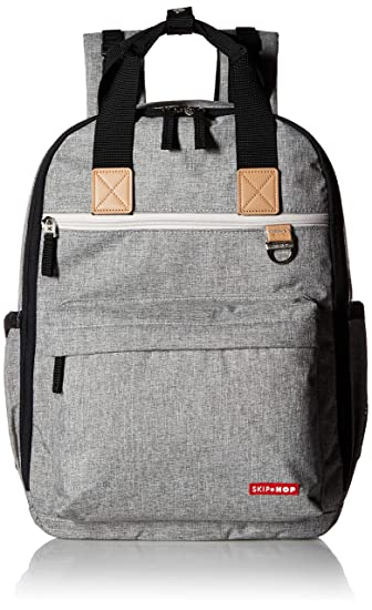 9f9ff734064e8 Amazon.com : Skip Hop Diaper Bag Backpack with Matching Changing Pad, Duo  Signature, Grey Melange : Baby