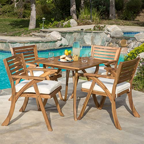 Christopher Knight Home Hermosa Acacia Wood Dining Set