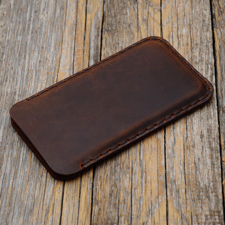 Marrón Funda De Cuero Para Samsung Galaxy Note 9 Caja De Funda Bolsa. Cosido a mano Note9