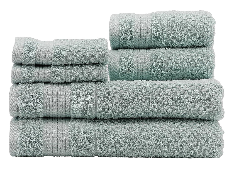 Caro Home Pebble 6 Piece Bath Towel Set, Large, Eggshell 6S1372T4356