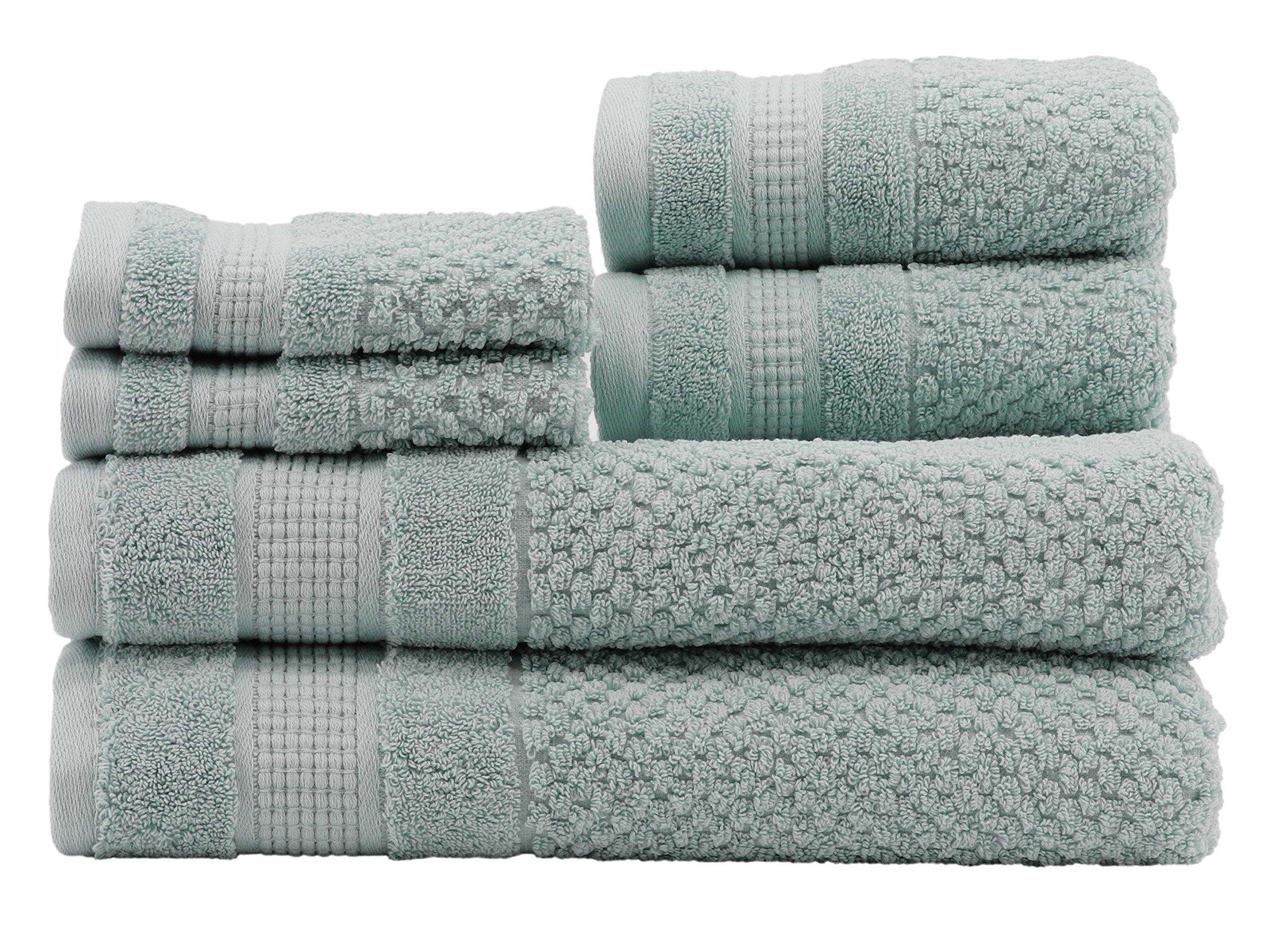 Caro Home Pebble 6 Piece Bath Towel Set, Large, Eggshell