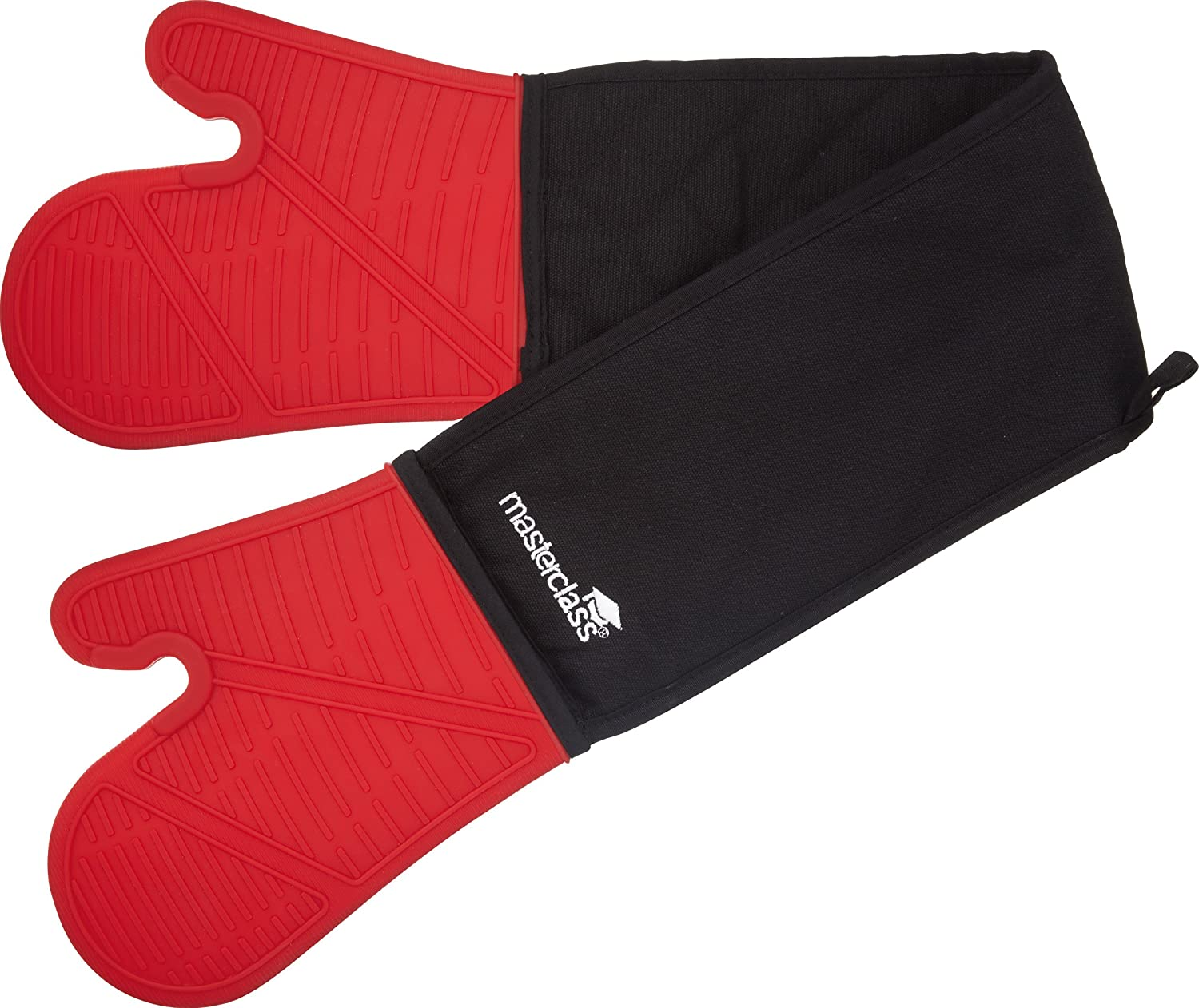 Master Class Double Oven Glove RED, Silicone