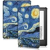 Case para Novo Kindle 10a. geração com iluminação embutida Função Liga/Desliga (Noite Estrelada)