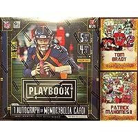 $99 » 2020 Panini Playbook Football Card MEGA Box (Factory Sealed) - 1 Exclusive Autograph or Memorabilia Card Per Box - Look for Justin…