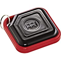 Meinl Percussion Key Ring Tambourine with Steel Jingles and Strudy ABS Plastic Key Ring Shaker, Black/Red
