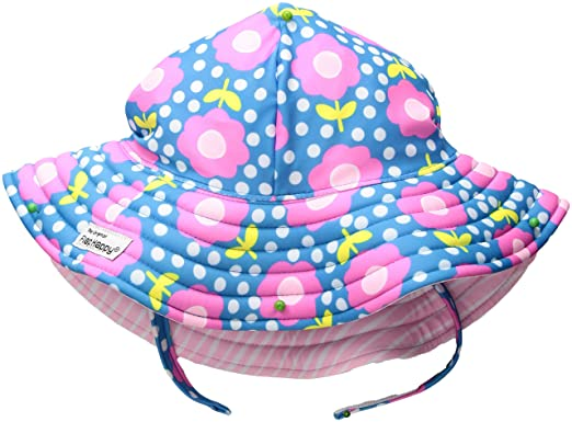 Flap Happy Girls  Toddler UPF 50+ Summer Splash Swim Hat bc21721ee255