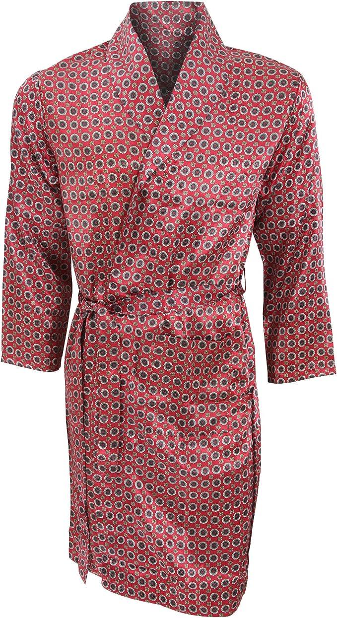 Robe De Chambre Legere Traditionnelle Homme M Poitrine 102cm Rouge Amazon Fr Vetements Et Accessoires
