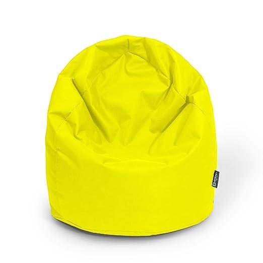 BuBiBag - Puf XL Amarillo con Relleno cojín cojín de Suelo ...