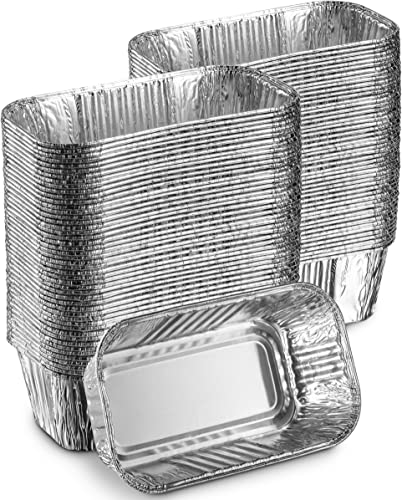 MontoPack 100-Pack of Super-Thick Aluminum Mini Loaf Baking Pans