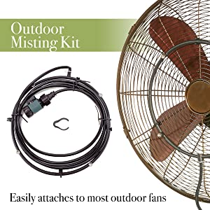 DecoBREEZE Outdoor Misting Kit for Outdoor Fans