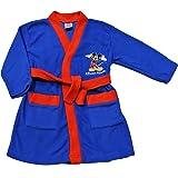 Accappatoio di Topolino, personaggio Disney, per bambini da 1 a 5 anni, colore: blu e rosso
