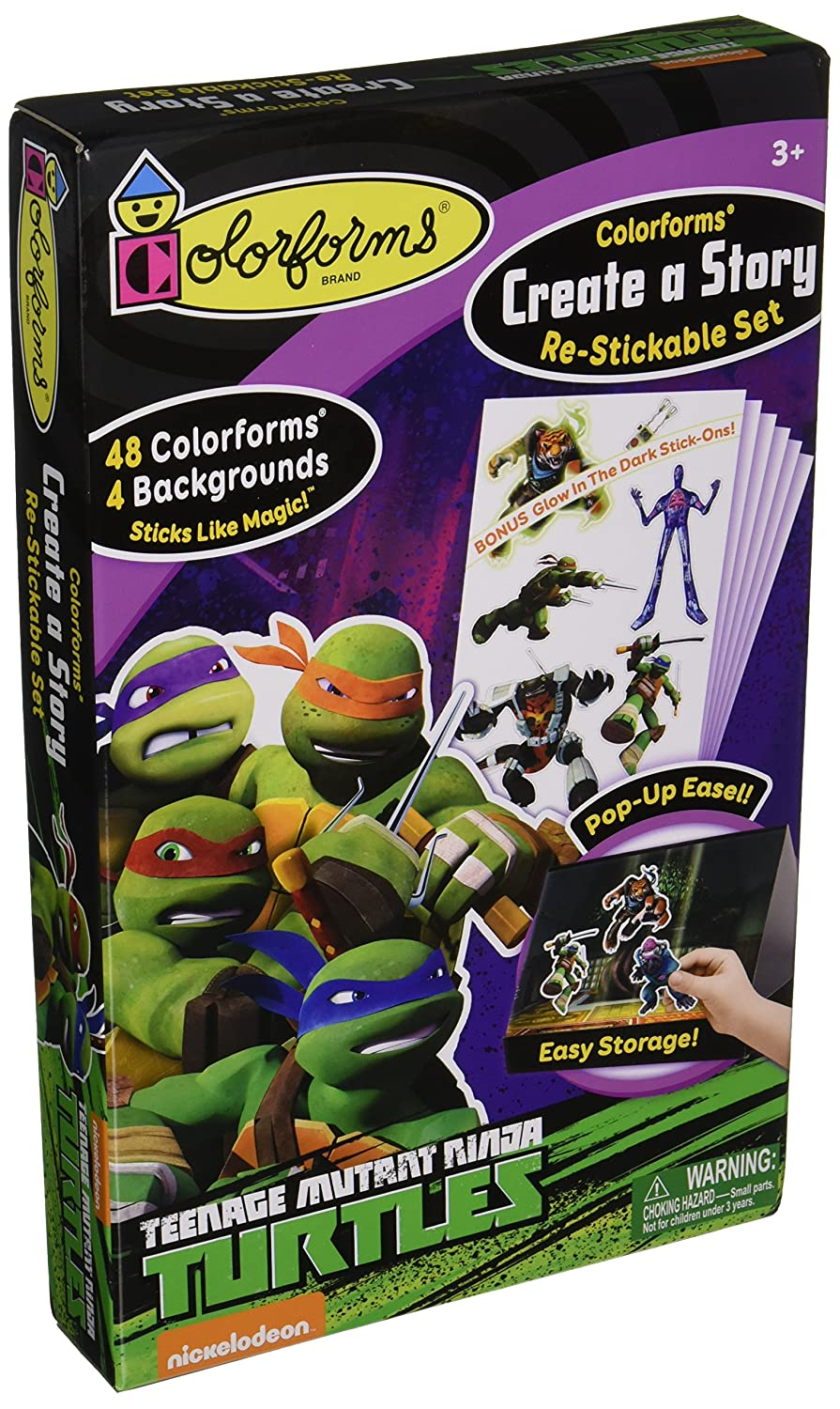 Colorforms R Create A Story Re-Stickable Sticker Set-Teenage ...