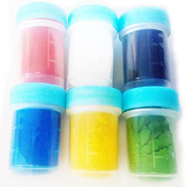 Food Colouring Powder Colour 6 x 15 ml white red blue green yellow ...