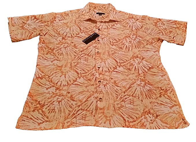 5c2db15d Image Unavailable. Image not available for. Color: Van Heusen Mens Short- Sleeve Polynesian Printed Shirt ...