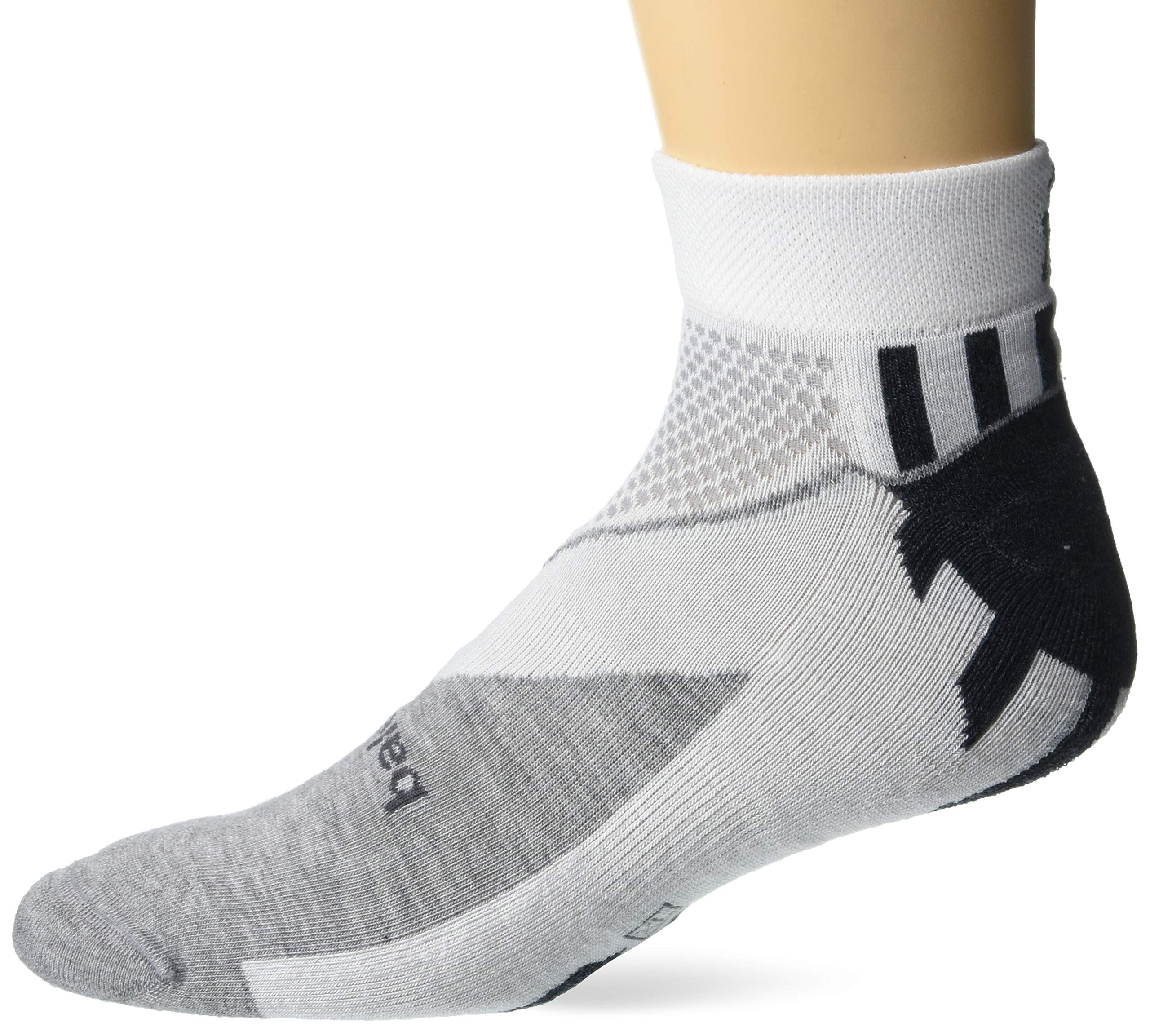 Balega Hidden Comfort No-Show Running Socks for Men and Women (1 Pair), White, Large by Balega