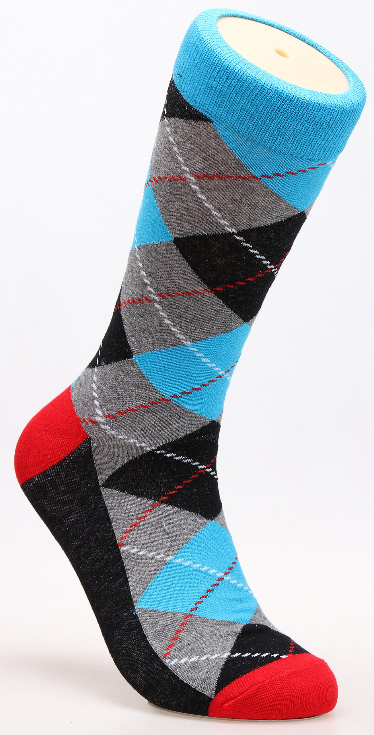 Galsang 4 Pack Cotton Argyle Business Trouser Dress Socks For Men Size 6-13 A301 (mixed color) by GALSANG (Image #7)