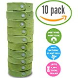 Harris Green Microfiber Natural Mosquito Insect Repellent Bracelets (10-Pack)