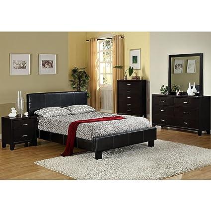 Amazon.com: Furniture of America Geriza Modern 4-piece Espresso ...
