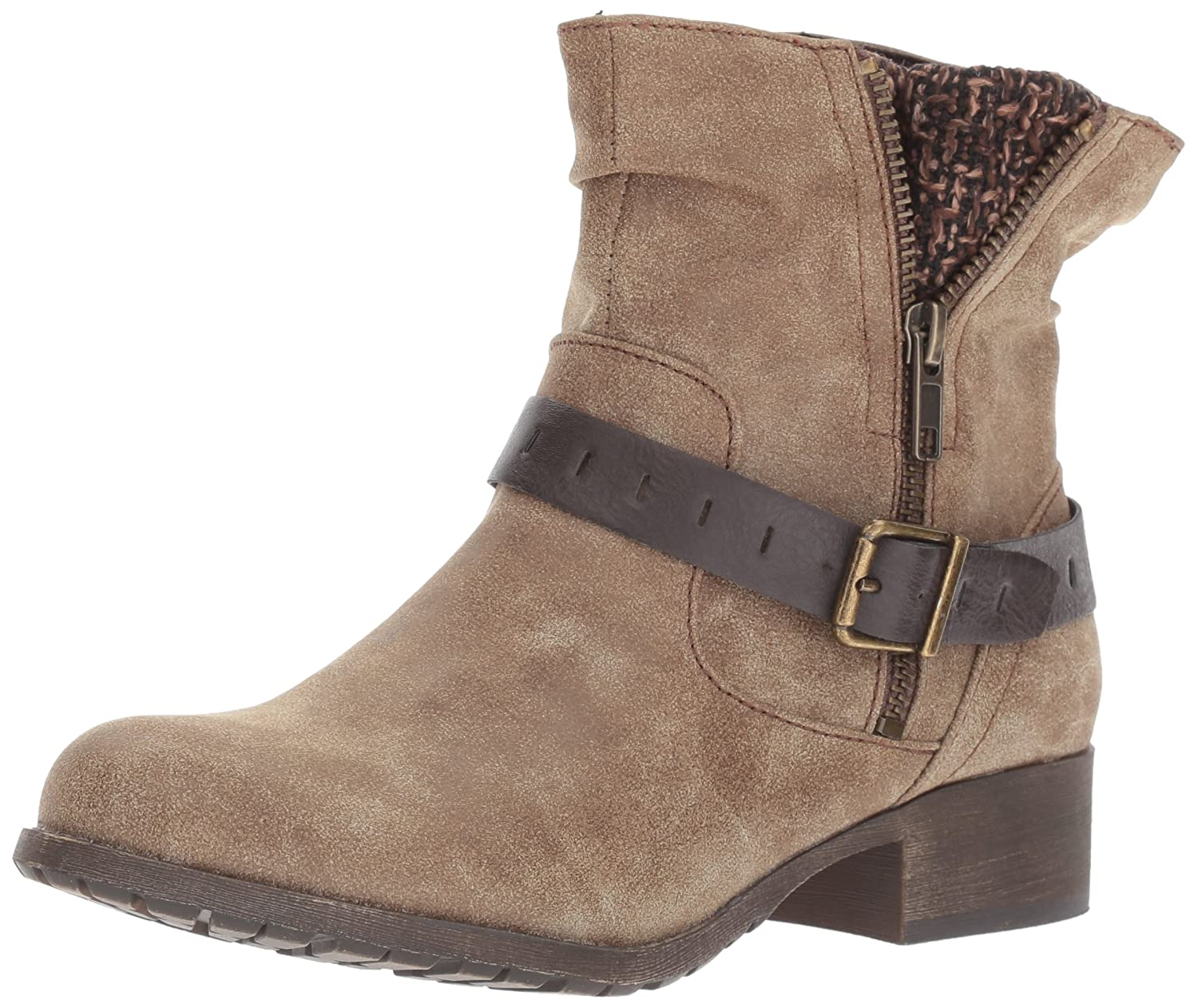 Jellypop Women's Cate Engineer Boot B06WVDQSR8 9 B(M) US|Brown Distress Small