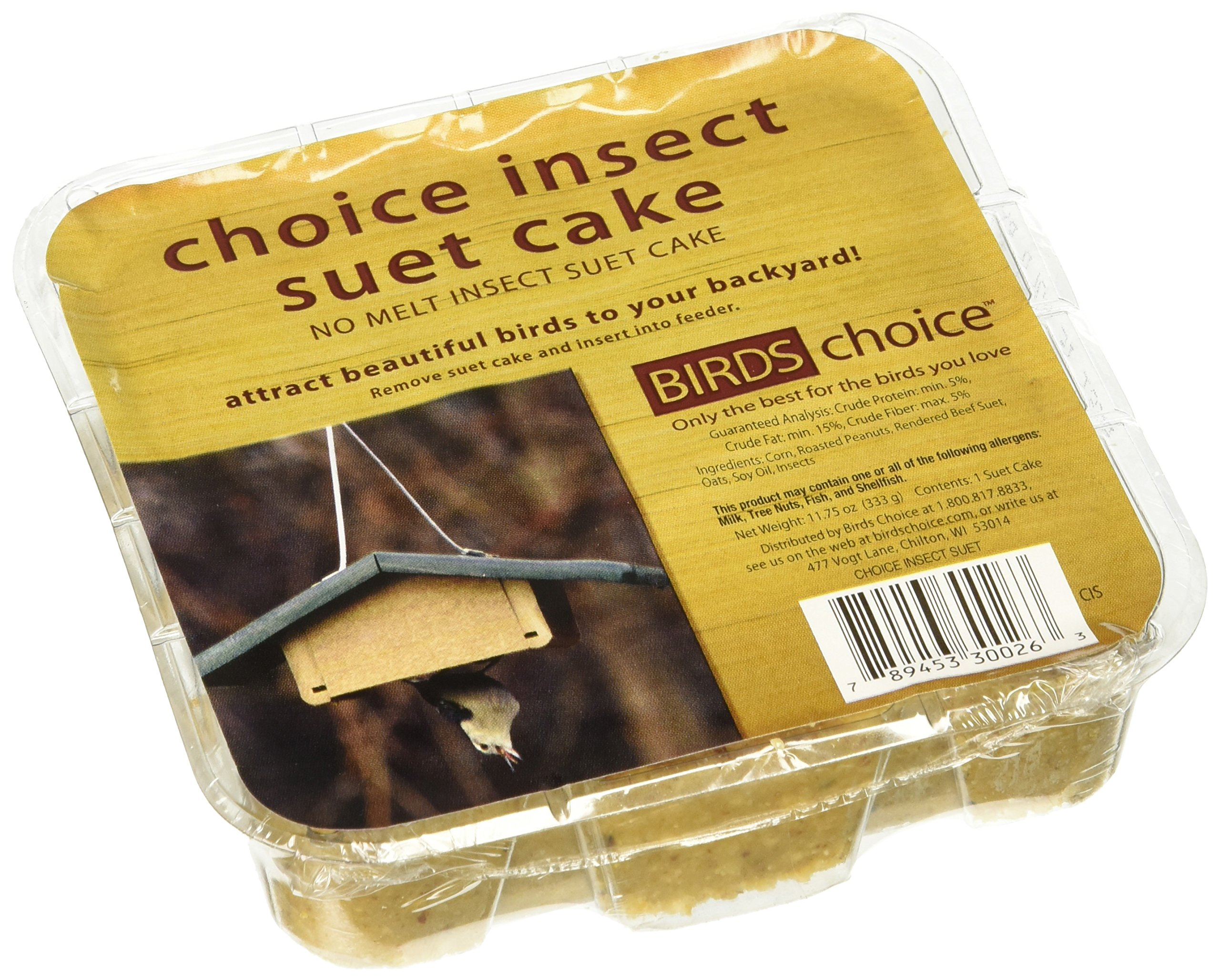 Birds Choice Insect Suet Cake 11.75 oz, Case of 12 by Birds Choice