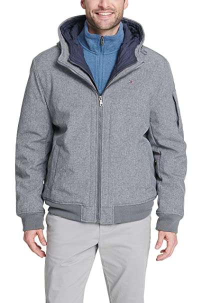 Image result for Tommy Hilfiger Soft-Shell Hooded Bomber Jacket with Bib