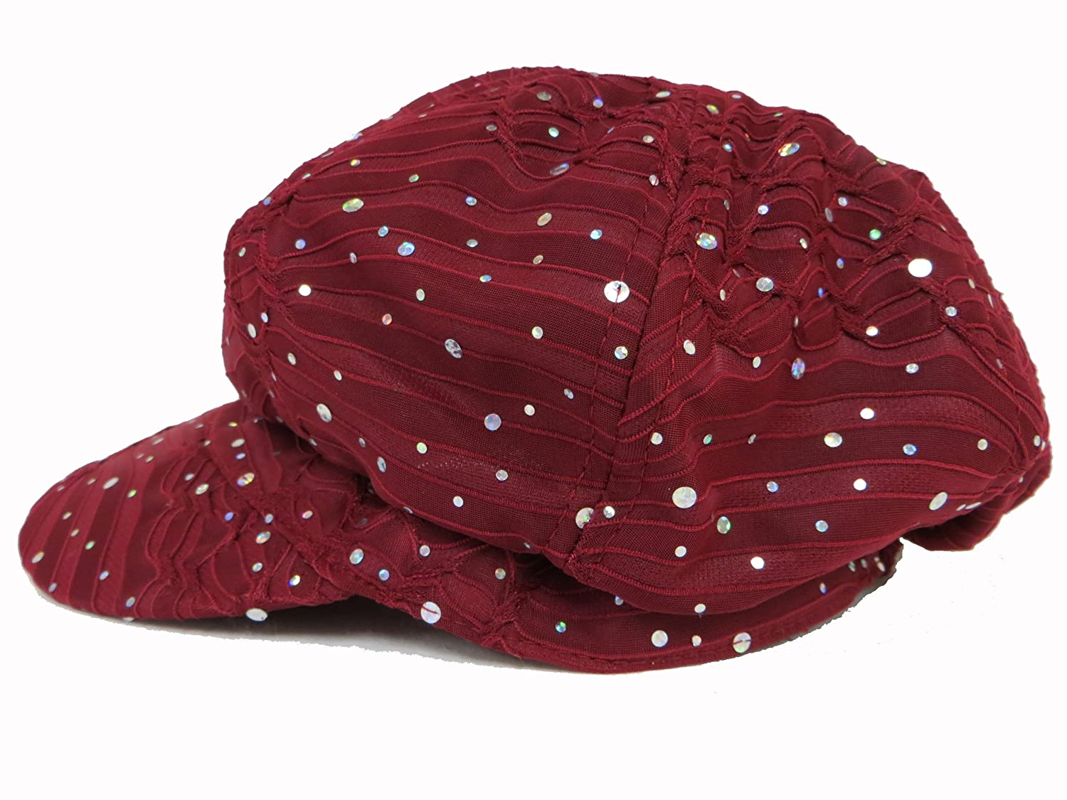 Sparkle Glitter Newsboy Cap   Burgundy at Amazon Women s Clothing store   Hats For Cancer Patients 5c03cb8da2c