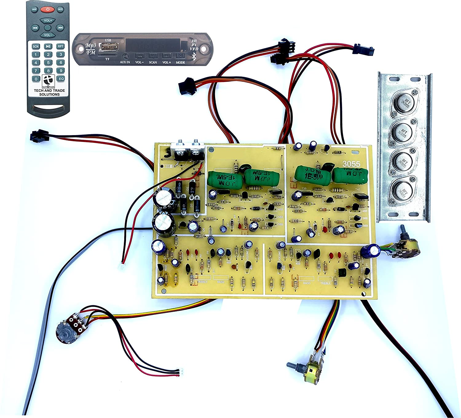 Tech And Trade 350 W Diy 2n3055 Transistor Based Audio 200 Watt Amp Mosfet Amplifier Schematic Using Philips Transistors Electronics